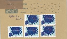 Briefstück * Für 5 Auslandsbriefe - Quader Quadrat Vernetzung Industrie - France