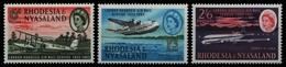 Rhodesien & Nyassa 1962 - Mi-Nr. 42-44 ** - MNH - Flugzeuge / Airplanes - Rhodésie & Nyasaland (1954-1963)