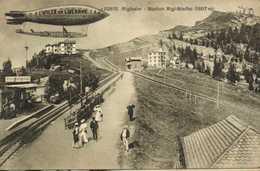 Rigibahn Station Rigi Staffel (1607m) + Dirigeable Ville De Lucerne RV - SZ Schwyz