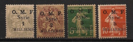 Syrie - 1920 - N°Yv. 25 à 28 - OMF 4 Valeurs - Neuf Luxe ** / MNH / Postfrisch - Syrie (1919-1945)
