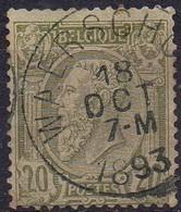 N° 47 Oblitération WAERSCHOOT (défauts) - 1884-1891 Léopold II