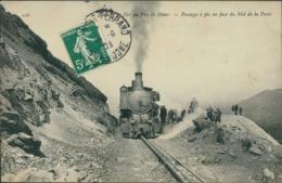 63 LE PUY DE DOME DIVERS / Le Chemin De Fer Du P. De D. Passage A Pic En Face Du Nid De La Poule/ BELLE CARTE LOCOMOTIVE - Altri Comuni