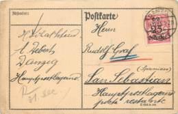Deutschland - Danzig - Karte Von Danzig Nach San Sebastian Spanien - Danzig