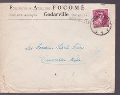 N°832 Sur Enveloppe Fonderie Facomé. . Cachet Charleroi 10:7/1951 + Griffe Godarville Voir Scans - Poststempels/ Marcofilie