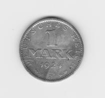 Très Beau  1 Mark 1924 J  TTB - [ 3] 1918-1933 : Weimar Republic
