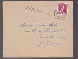 N°832 Sur Enveloppe   Cachet  + Griffe LEUZE-LONGCHAMPS Voir Scans - Poststempels/ Marcofilie