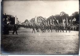PHOTO ORIGINALE 1919 [17X13] PARIS - Fêtes De La Victoire - Drapeaux Des Alliés. - Guerre, Militaire