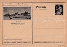 Carte Entier Postal Ganzsache Postkarte Druckprobe Magdeburg - Enteros Postales