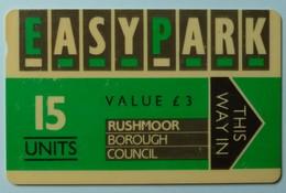 UK - Great Britain - Parking Card - Easy Park - Rushmoor Borough Council - 15 Units - 1RBCA - £3 - Dark Grey - Used - Ver. Königreich