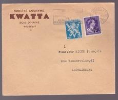 N°724 O +. 676 Sur Enveloppe  Pub.Kwatta  Cachet BXL   Voir Scans - 1934-1935 Leopold III