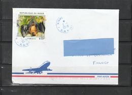 Z3] Enveloppe Circulée Circulated Cover Niger Chauve-souris Bat - Fledermäuse