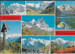 MONTAGNE VALDOSTANE - VIAGGIATA 1980 - ANNULLO A TARGHETTA - Italy
