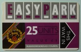 UK - Great Britain - Parking Card - Easy Park - Rushmoor Borough Council - 25 Units - FKIRHR - Used - Ver. Königreich