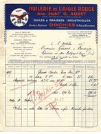 Facture 1937 / 59 ORCHIES / Huilerie De L'AIGLE / Huiles & Graisses Industrielles / OBRILINE Huile Voiture OBRICORNE - Automovilismo