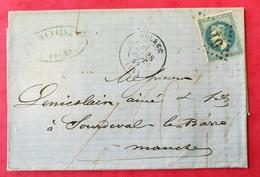 Seine Inférieure. Lettre De Bolbec.Gros Chiffre 516 Sur N° 29 - 1849-1876: Période Classique