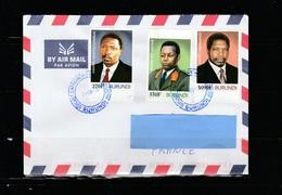 Z3] Enveloppe Circulée Circulated Cover Burundi Présidents Leaders IMPERF NON Dentelés 2015 - 2010-..: Used