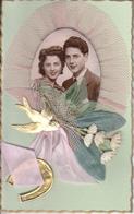 Cartes Anciennes Fantaisies - Amour - Couple - 1er Mai - Carte Luxe - Couples