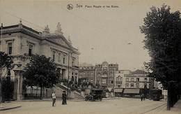 Spa - Place Royale Et Les Bains (animée, Oldtimer Tram Tramway, Edit. F Misson) - Spa