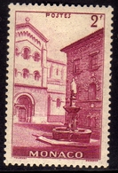 MONACO 1939 1946 ST. NICHOLAS SQUARE 2f MLH - Unused Stamps