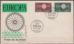 Spanien 1960 FDC  MiNr.1189- 1190  Europa( D 366 )günstige Versandkosten - FDC