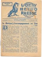 Pub Reclame - Ciné Cinema Bioscoop Film - Programma Programme Majestic Gent - La Valse De L'adieu - 1928 - Publicité Cinématographique