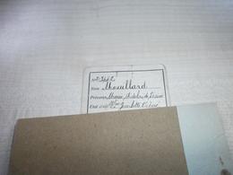 Morceau De Carte D'identité Ancienne MOUILLARD Marie Née En 1859 à GOSSELIES - Visiting Cards