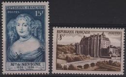 FR 1224 - FRANCE N° 873/74 Neufs** Château De Châteaudun Et Madame De Sévigné - France
