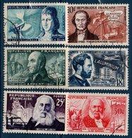 FRO 1955  Inventeurs Célèbres  N°YT 1012-1017  (ex1) - Oblitérés