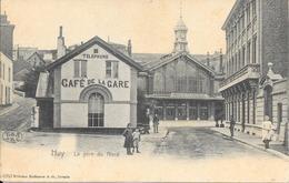 Huy - LA GARE DU NORD - CAFÉ DE LA GARE - N° 4253 Wilhelm Hoffmann A.G. Dresde - 2 Scans - Huy