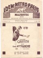 Pub Reclame - Ciné Cinema Bioscoop Film - Programma Programme Majestic Gent - Corrine Griffith - 1930 - Publicité Cinématographique