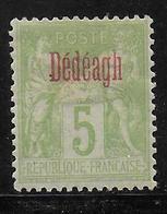 DEDEAGH - YVERT N° 2 * MH (CHARNIERE ASSEZ FORTE) - COTE = 18 EUR. - Neufs