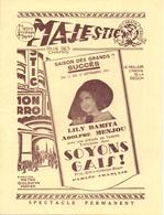 Pub Reclame - Ciné Cinema Bioscoop Film - Programma Programme Majestic Gent - Lily Damita , Adolphe Menjou 1931 - Publicité Cinématographique