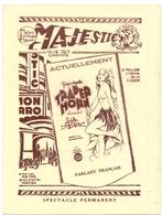 Pub Reclame - Ciné Cinema Bioscoop Film - Programma Programme Majestic Gent - Trader Horn - 193? - Publicité Cinématographique