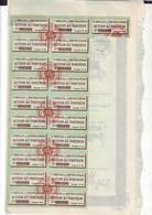 Compagnie Bordelaise Des  Comptoirs Africains Action De 100 Frs Au Porteur Bordeaux 1909_1818_ 1920 - Afrique