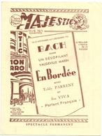 Pub Reclame - Ciné Cinema Bioscoop Film - Programma Programme Majestic Gent - Bach, Cartahu - Greta Garbo - 1931 - Publicité Cinématographique