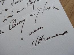 Jean Jacques HENNER (1829-1905) PEINTRE. Academie Beaux Arts. AUTOGRAPHE HST - Autographes