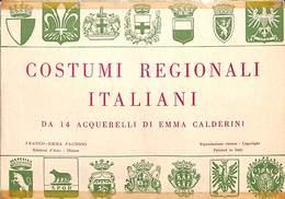 Costumi Regionali Italiani - Carnet Complet 14 Cartes (Emma Calderini) - Costumi