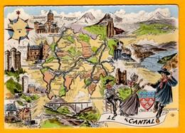 Le Cantal  + Blason     EDT  Artaud   N° - Maps