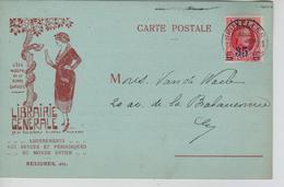 REF531/ TP 247 Albert Houyoux S/CP Illustrée Librairie Générale C.Bruxelles 7/121/28 > E/V - Brieven En Documenten