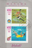 Manama 1968 Bf. 5B Olimpiadi Mexico Corsa Salto Sheet Imperf. CTO - Zomer 1968: Mexico-City