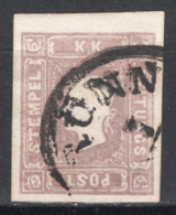 Austria 1858  Giornali Unif.6 O/used VF/F - Journaux