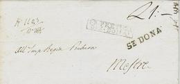 1837- LOMBARDO-VENETIE  - Lettre De ST. DONA / 25  NOV  Pour   Mestre - Marcofilía