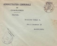 Enveloppe Administration Communale De Charleroi 420 - Belgique