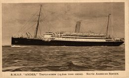 Steamer R.M.S.P. Andes Triple-Screw - Paquebote