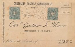 Caianello. 1899. Annullo Grande Cerchio CAIANELO, Su Cartolina Postale. - 1878-00 Umberto I
