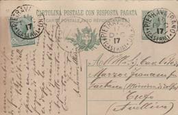 Pietravairano. 1917. Annullo Grande CerchioPIETRAVAIRANO (CASERTA), Su Cartolina Postale. USO TARDIVO DEL GRANDE CERCHIO - Storia Postale