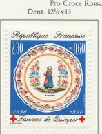 PIA - FRA - 1990 : A Profitto Della Croce Rossa - Faenza Di Quimper - (Yv  2646) - Primo Soccorso