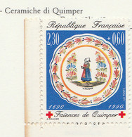PIA - FRA - 1990 : A Profitto Della Croce Rossa - Faenza Di Quimper - (Yv  2646a) - Primo Soccorso