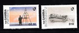 Gambia 1991 Mi Nr 793 + 794 Historisch Transport - Gambia (1965-...)