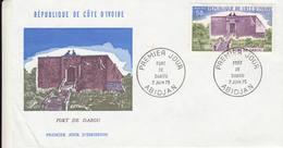 Enveloppe 1er Jour Abidjan Fort De Dabou 50F 7 Juin 1975 - Ivory Coast (1960-...)